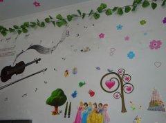 高中女生宿舍墙面装饰:城堡公主图片
