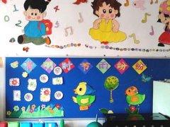 幼儿园大班六一节教室墙壁装饰图片