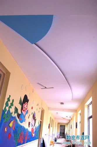 幼儿园走廊布置图片:墙壁彩绘