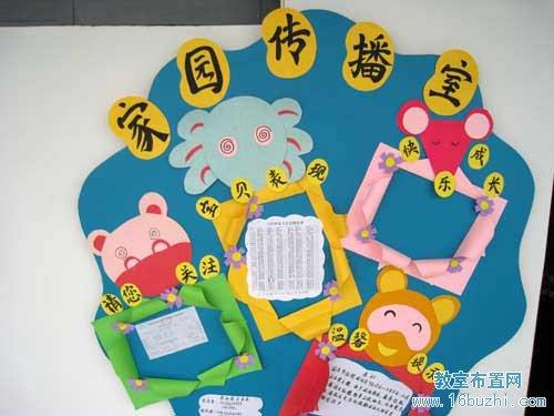 家园联系栏布置图片边框新年_亿库素材网 幼儿园家园联系栏创设图片