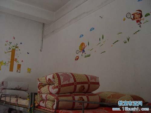 可爱宝宝墙面布置_幼儿园寝室布