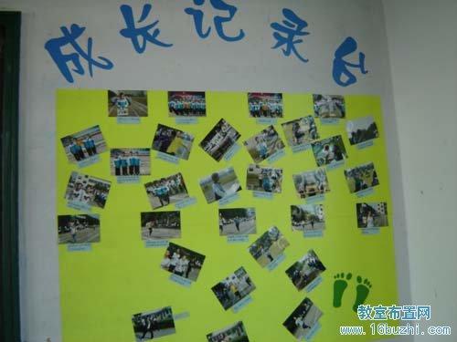 知 高三班级墙面布置:成长记录 高中教室布置 主页图片