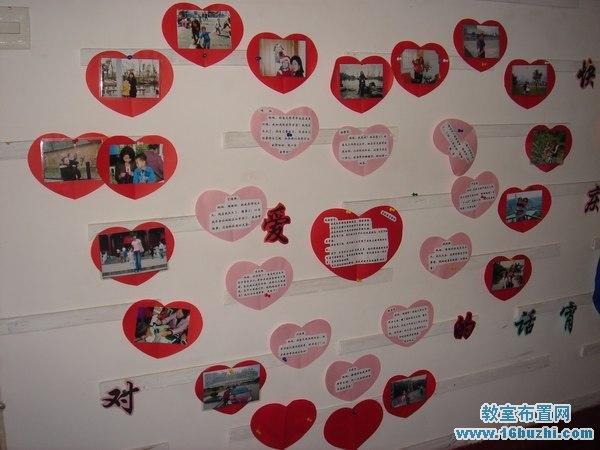 幼儿园三八节墙面布置:向妈妈说爱的话