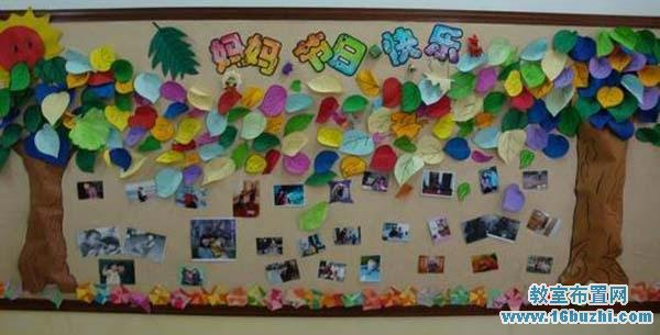 幼儿园三八妇女节主题墙布置:妈妈节日快乐