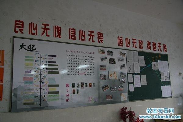 中学教室后墙布置图片