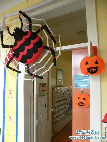 幼儿园万圣节室内天花板装饰图片