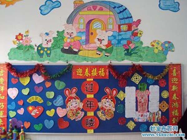 幼儿园春节主题墙布置图片