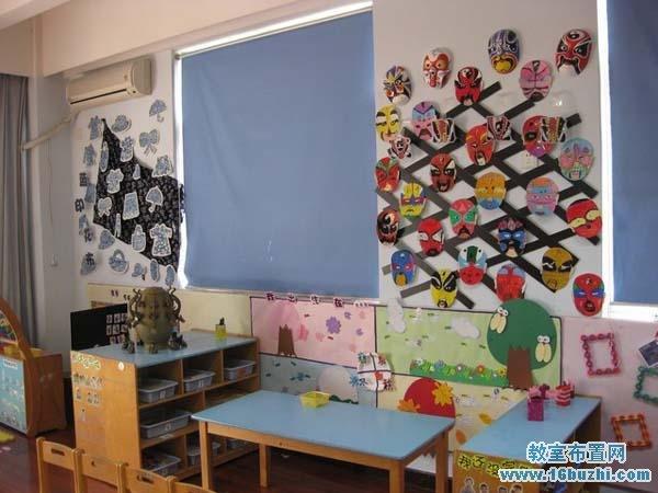 幼儿园教室环境中国风布置