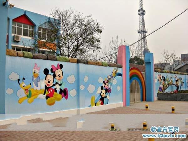 幼儿园大门围墙彩绘图案设计