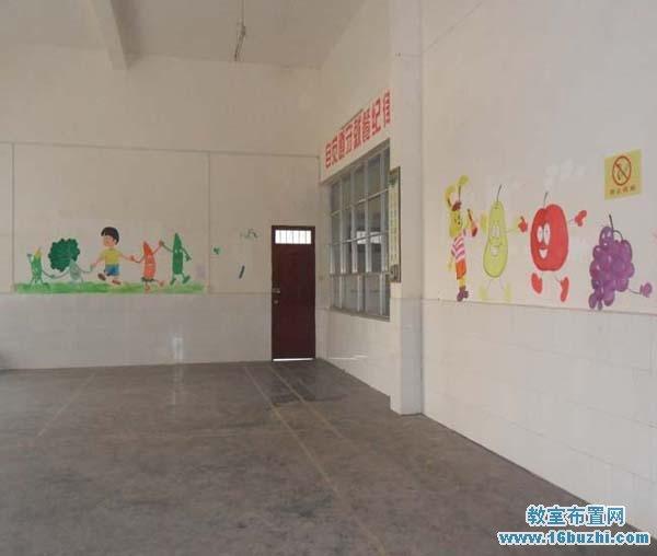 幼儿园餐厅墙面手工装饰图片_教室布置网