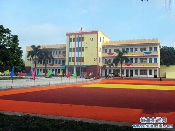 幼儿园教学楼效果图_幼儿园教学大楼装修设计图片_教室布置网