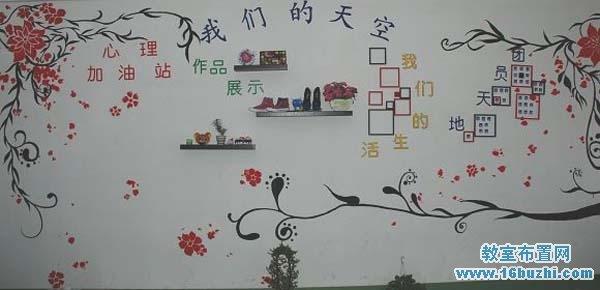 大学班级文化墙装饰:我们的天空_教室布置网