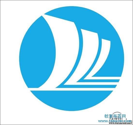 中学校徽logo设计图案大全:万州中学_教室布置网